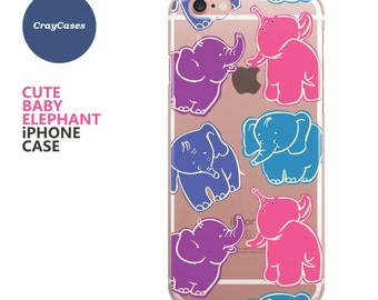 Cute Baby Elephant iPhone 6s Case, Cute Baby Elephant iPhone 6s Plus Case, cute iPhone 7 Case, cute iPhone 6 Plus Case (Shipped From UK)