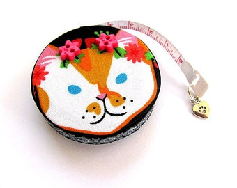 Tape Measure Flowers and Cats Retractable Measuring Tape