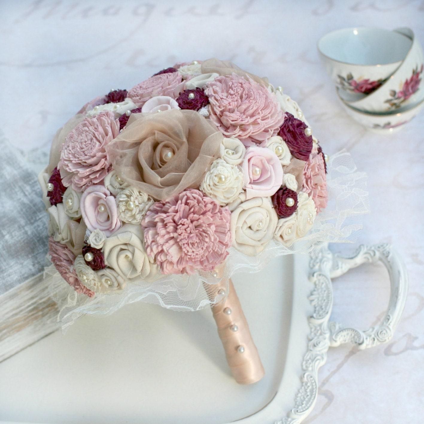 Rose gold wedding bouquet rose gold bridal bouquet pink zoom izmirmasajfo