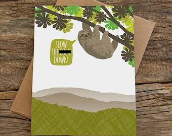 funny birthday card / sloth birthday card / mature
