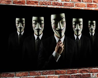 "Anonymous  (10"" x 24"") - Canvas Wrap Print"