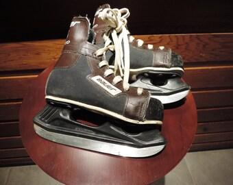 Vintage Hockey Skates,Vintage Boys Hockey Skates,Vintage Made in Canada Skates,Ice Skates,Vintage Ice Skates,Vintage Bauer Hockey Skates