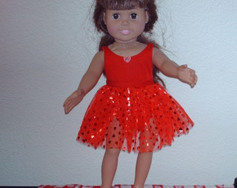 Valentine bathing suit w/ Tutu for American Girl doll.