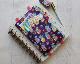 Pineapple planner - daily planner - happy planner bag - planner pouch - best friend gift ideas - pineapple bag - pencil pouch - planner band