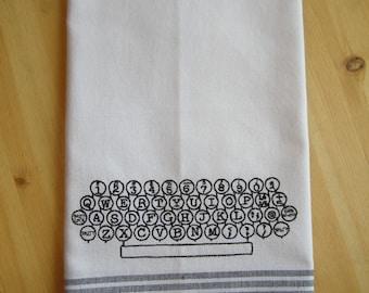 Typewriter Keyboard Kitchen Towel