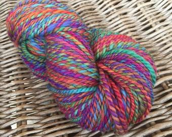 Colourful love I. - handspun merino twoplied yarn