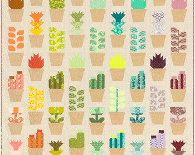 Quilt Kit: Greenhouse featuring Terrarium by Elizabeth Hartman