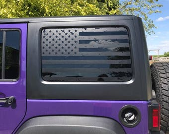 Custom Distressed Back Window Flags for 2013 Infiniti QX56