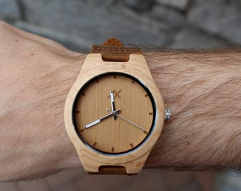 FREE ENGRAVING, Wood Watch, Wooden Watch, Mens Wood Watch, Wooden Watch for men, Wrist Watch, Anniversary Gift, Gift for Him, Mens Watch