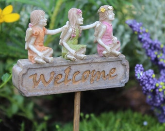 "Welcome Trio w/3Fairies ..5"" Tall 