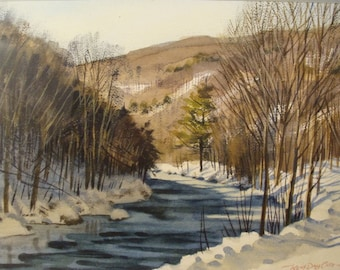 Kent Day Coes, National Academy, Watercolor