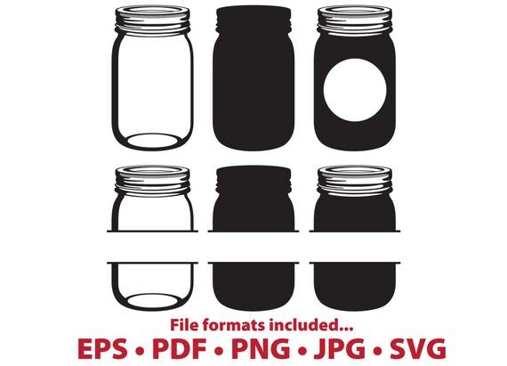 Mason Jar Clipart Canning Jar Digital Vector Clip Art