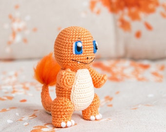 "Crochet Pattern of Charmander from ""Pokemon"" (Amigurumi tutorial PDF file)"