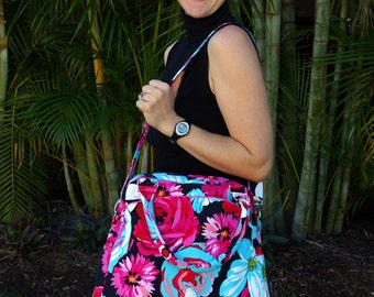 The Wayfarer - A Travel Tote Bag PDF Sewing Bag Pattern Pattern includes two sizes RLR Creations