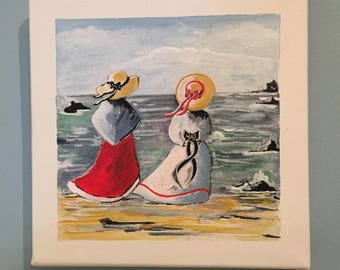 "Seaside painting: ""on the beach"""