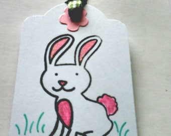 EASTER BUNNY Gift Tags Set of 6