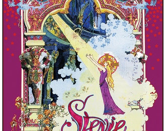 Stevie Nicks Spotlight art nouveau poster