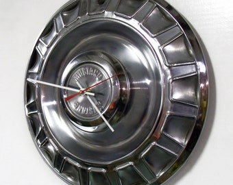 1970 Ford Mustang Wall Clock - Muscle Car Hubcap Clock - Pony Car - 1970's Wall Decor - Gift For Him