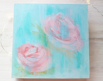 Faded Roses Abstract Original Painting
