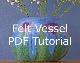 PDF download tutorial how to make a felt vessel bowl instructions