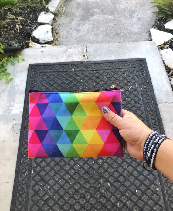Colorful Accessory Pouch Purse Makeup Bag Gift for Her Carry All Your Stuff Pencil Bag Color Street Nails Purse Holder Zipper Bag
