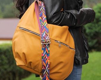 HOBO bag, YELLOW LEATHER  Hobo Bag, Laptop Bag, Large Hobo Bag, Leather Handbag,  Shoulder Bag, Everyday Leather Bag,  Leather Handbags