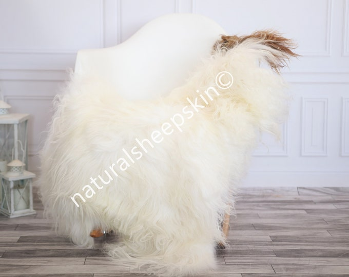 Icelandic Sheepskin | Real Sheepskin Rug | Ivory Brown Sheepskin Rug | Fur Rug | Homedecor #febisl30