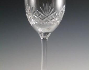 "EDINBURGH Crystal - JURA Cut - Water Goblets Glass / Glasses - 7 3/8"""