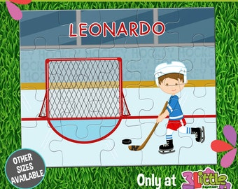 Hockey Player Puzzle - Personalized 8 x 10 Puzzle - Personalized Name Puzzle - Personalized Children Puzzle - Personalized Hockey Puzzle