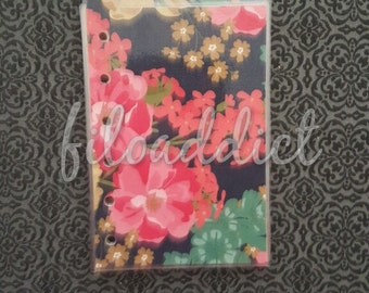 Pocket Size Filofax Planner Dividers - 5 top tabs - Navy and Gold