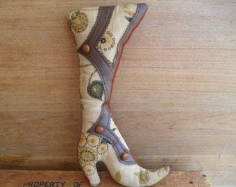 Vintage High Button Shoe Wall Hanging or Pin Cushion
