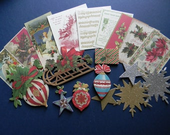 Assortment of Full Color Christmas Die Cuts (541)