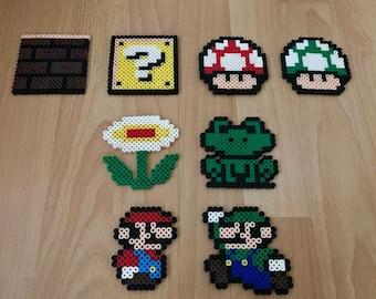 Perler Beads Mario Sprites
