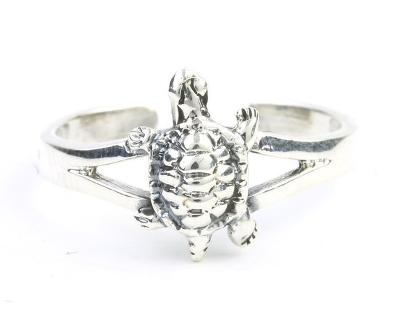 Sterling Silver Turtle Toe Ring, Foot Jewelry, Midi Ring, Knuckle Ring, Boho, Festival, Beach, Gypsy, 925 Sterling Silver