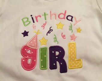 "Birthday Girls monogrammed Ruffle Shirt""*****Please Read Shop Announcement*****"