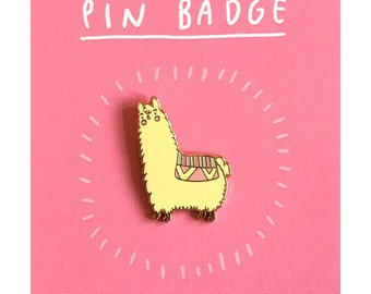 Alpaca Enamel Pin | cute alpaca pin badge