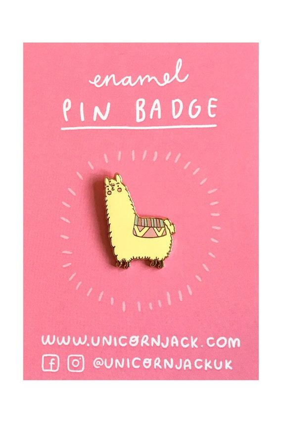 Alpaca Enamel Pin Cute Alpaca Pin Badge