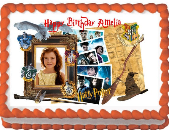 Harry Potter Marauder S Map Picture Frame Edible Cake