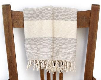 PESHKIR Set Guest Towel Face Towel Kitchen Hand Towel Cotton Turkish Towel Handwoven Cotton Bathroom Towel Tea Towel Spa Towel DIAMOND BEIGE