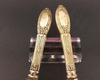 1900 Antique Sterling Silver Carving Set, Orfevrerie Boulenger, Carving Knife, Carving Fork, Antique Cutlery, Sterling Silver Cutlery
