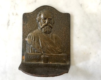 Vintage Bronze Henry W Longfellow BookEnd Book End