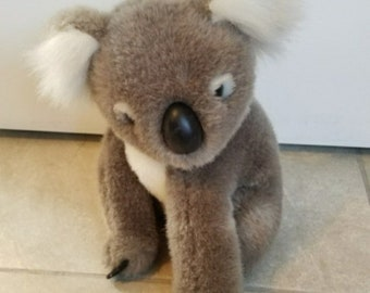 Vintage Australian koala bear plush toy gray brown white