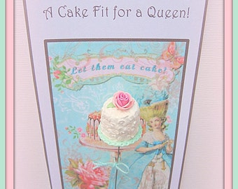 Marie Antoinette Inspired  - A Cake Fit for a Queen Pin Topper