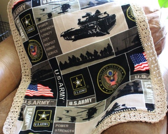 US Army Baby, Toddler Blanket