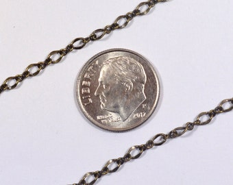 1:1 Twisted Figaro Chain - Antique Brass - CH170 - Choose Your Length