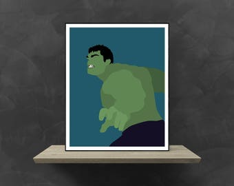 The Hulk Minimalist Poster | Marvel Poster Marvel Avengers Avengers Assemble Hulk Smash Hulk Avengers The Incredible Hulk Superhero Movie
