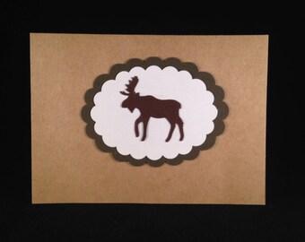Set of 5 Christmas Moose CLASSIC Christmas Cards