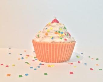 Jumbo Birthday Cupcake Candle - Birthday Candle
