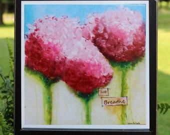 Art Print of Mixed Media Original artwork titled Just Breathe