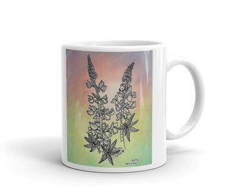 Alaskan Wildflower Lupine Flower Mug